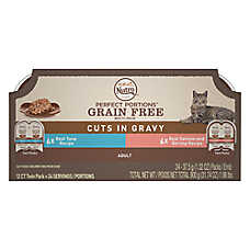 NUTRO™ PERFECT PORTIONS™ Adult Cat Food - Multipack, Tuna & Salmon