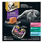 SHEBA® Perfect Portions Cat Food - Seafood, Variety Pack, 24ct