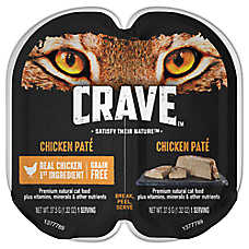 Crave Adult Cat Food - Natural, Grain Free, Chicken Pate