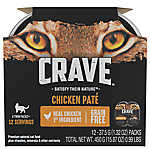Crave Adult Cat Food - Natural, Grain Free, Chicken Pate, Multipack, 6ct