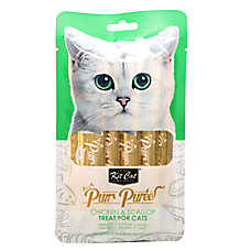 Kit Cat Purr Puree Cat Treat - Natural, Grain Free, Chicken & Scallop