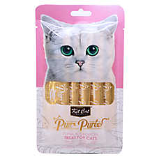 Kit Cat Purr Puree Cat Treat - Natural, Grain Free, Tuna & Salmon