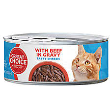 Grreat Choice® Tasty Shreds Cat Food - Beef in Gravy