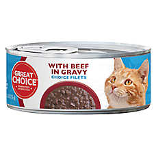 Grreat Choice® Choice Fillets Cat Food - Beef in Gravy