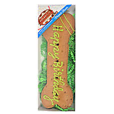 Foppers Happy Birthday Bone Dog Treat - Peanut