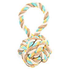 Top Paw® 2 Wild Tug Rope Ball Dog Toy