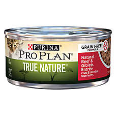 Purina® Pro Plan® TRUE NATURE™ Grain Free Adult Cat Food - Natural, Beef & Giblets
