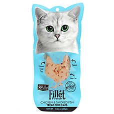 Kit Cat Fillet Fresh Cat Treat - Natural, Grain Free, Chicken & Smoked Fish