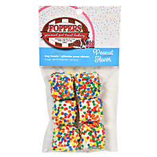 Foppers Confetti Squares Dog Treat - Peanut