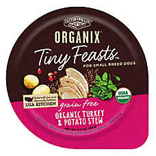 Castor & Pollux ORGANIX® Tiny Feasts Grain Free Small Breed Dog Food - Organic Turkey & Potato Stew