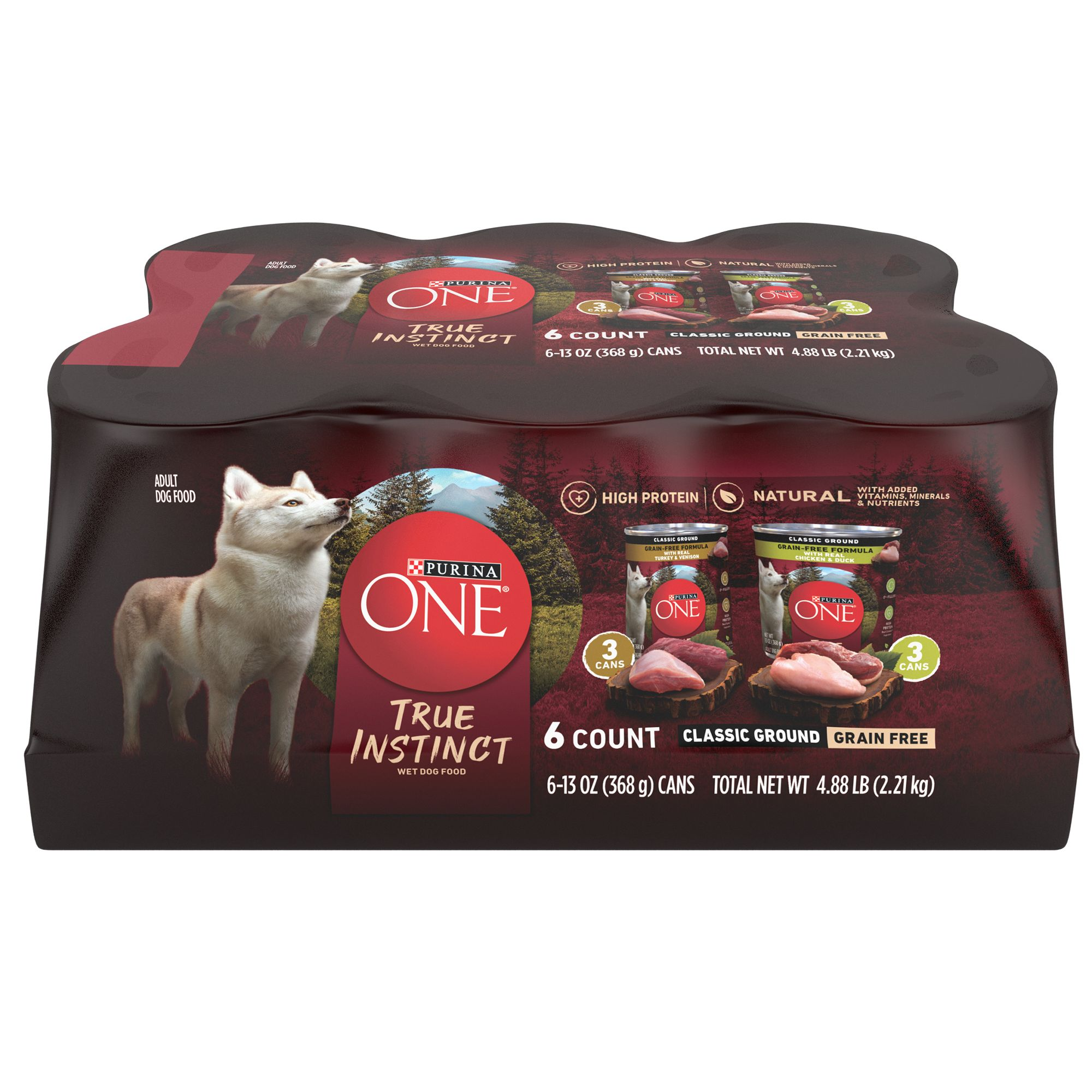 Purina ONE SmartBlend True Instinct Classic Ground Grain-Free Variety Pack Canned Dog Food