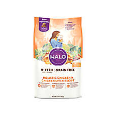 HALO® DreamCoat Kitten Food - Natural, Grain Free, Holistic Chicken & Chicken Liver Recipe