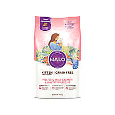HALO® DreamCoat Kitten Food - Natural, Grain Free, Holistic Wild Salmon & Whitefish Recipe