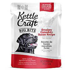 Kettle Craft Big Bite Dog Treat - Natural, Canadian Bacon