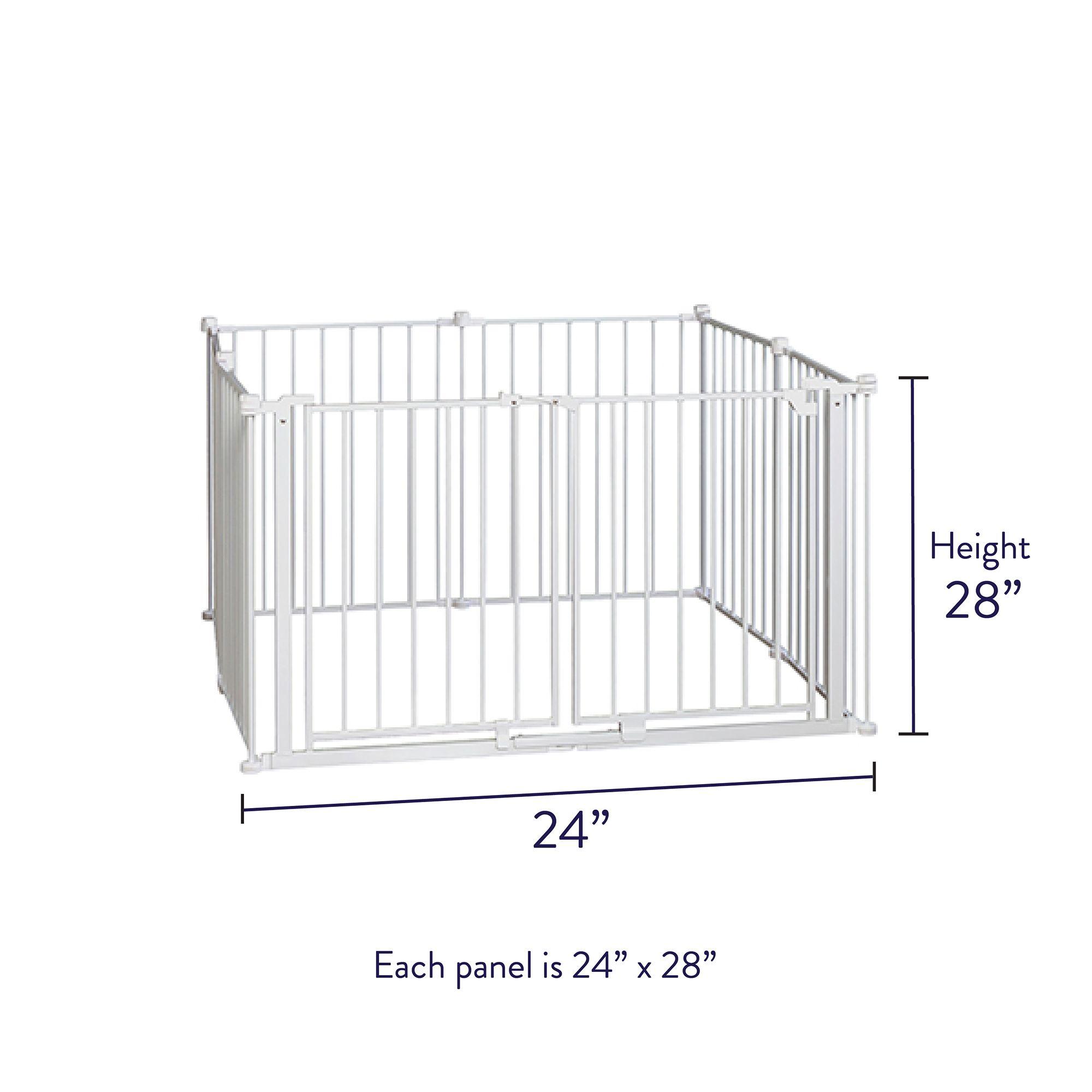 Top Paw 2 In 1 Double Door Pet Gate Pen Dog Dog Doors Gates