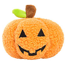Thrills & Chills™ Halloween Pumpkin Dog Toy - Plush, Squeaker