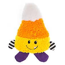 Thrills & Chills™ Halloween Candy Corn Flattie Dog Toy - Crinkle