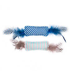 Whisker City® Feather Packets Cat Toys 2 Pack - Catnip, Plush