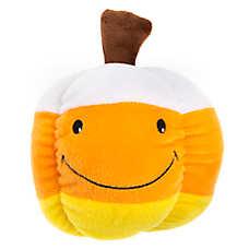 Thrills & Chills™ Halloween Candy Corn Pumpkin Dog Toy - Plush, Squeaker