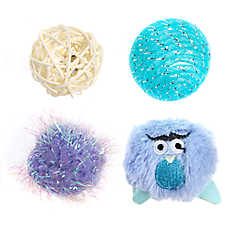 Whisker City® Owl Balls Cat Toys - 4 Pack