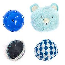 Whisker City® Bear Ball Cat Toys - 4 Pack