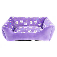 Grreat Choice® Paw Print Cuddler Pet Bed
