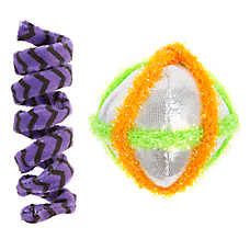 Thrills & Chills™ Halloween Ball with Spring Cat Toys - 2 Pack