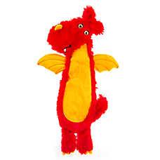 Thrills & Chills™ Halloween Dragon Flattie Dog Toy - Crinkle