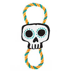Thrills & Chills™ Halloween Rope Skull - Plush, Squeaker