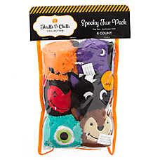 Thrills & Chills™ Halloween Sherpa Balls Dog Toys - 6 Pack