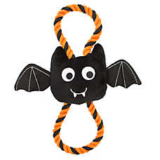 Thrills & Chills™ Halloween Rope Bat - Plush, Squeaker