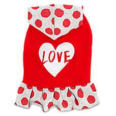 """Top Paw® """"Love"""" Hoodie Dog Dress"""