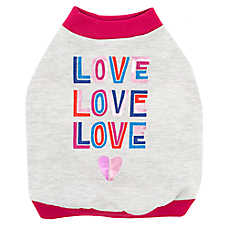 "Top Paw® ""Love Love Love"" Dog Tee"