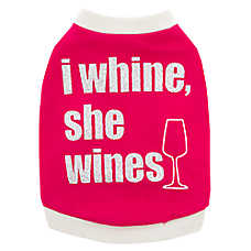 "Top Paw® ""I Whine She Wines"" Dog Tee"