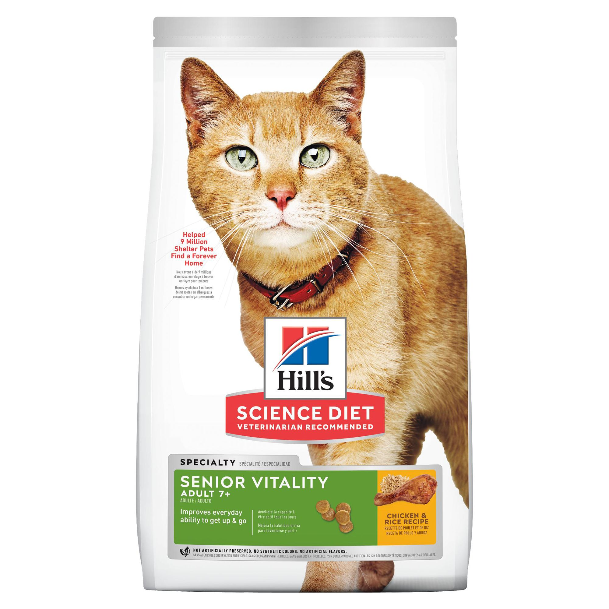 Hill's® Science Diet® Youthful Vitality Adult 7+ Cat Food - Chicken & Rice