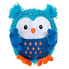 Grreat Choice® Noodle Owl Dog Toy - Plush, Squeaker