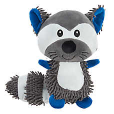 Grreat Choice® Noodle Raccoon Dog Toy - Plush, Squeaker