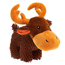 Grreat Choice® Noodle Moose Dog Toy - Plush, Squeaker