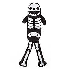 Thrills & Chills™ Halloween Flattie Skeleton Dog Toy