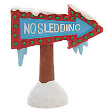 Top Fin™ No Sledding Sign Aquarium Ornament