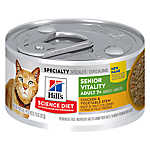 Hill's® Science Diet® Youthful Vitality Adult 7+ Cat Food - Chicken & Vegetable Stew