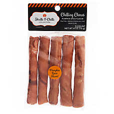 Thrills & Chills Pet Halloween Chilling Chews Rawhide Rolls Dog Treat - Pumpkin Spice