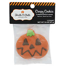 Thrills & Chills Pet Halloween Creepy Cookies Pumpkin Dog Treat