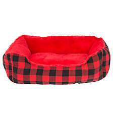 Grreat Choice® Checkered Cuddler Pet Bed