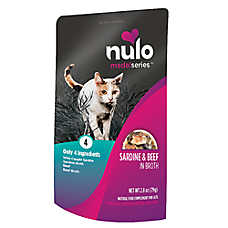 Nulo MedalSeries Cat Food Topper - Natural, Sardine & Beef