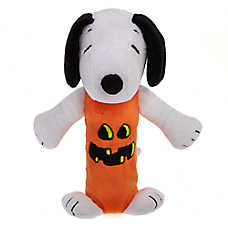 Peanuts® Halloween Snoopy Pumpkin Bottle Crunch Dog Toy - Plush, Squeaker