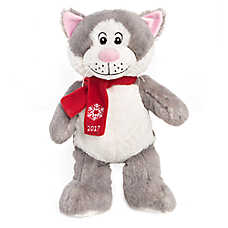 "PetSmart Holiday ""Lucky"" the Cat Pet Toy - Plush, Squeaker"