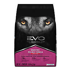 EVO Small Bites Adult Dog Food - Grain Free, Gluten Free, Red Meat