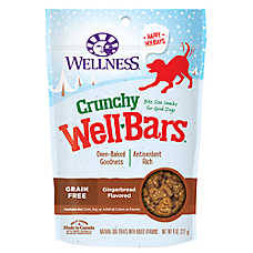 Wellness® Crunchy Well Bars Dog Treat - Grain Free, Gingerbread