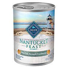 BLUE Nantucket Feast Dog Food - Natural, Cod, Shrimp, Potatoes & Cranberries